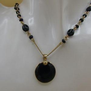 Liz Claiborne Onyx Necklace